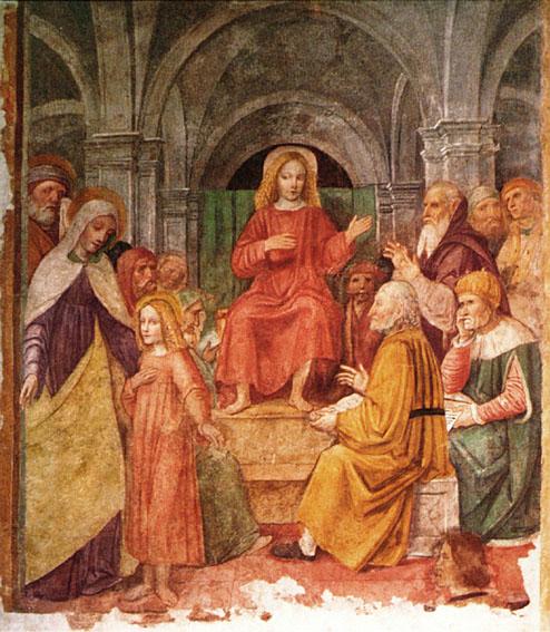 Borgognone Der zwölfjährige Jesus im Tempel
