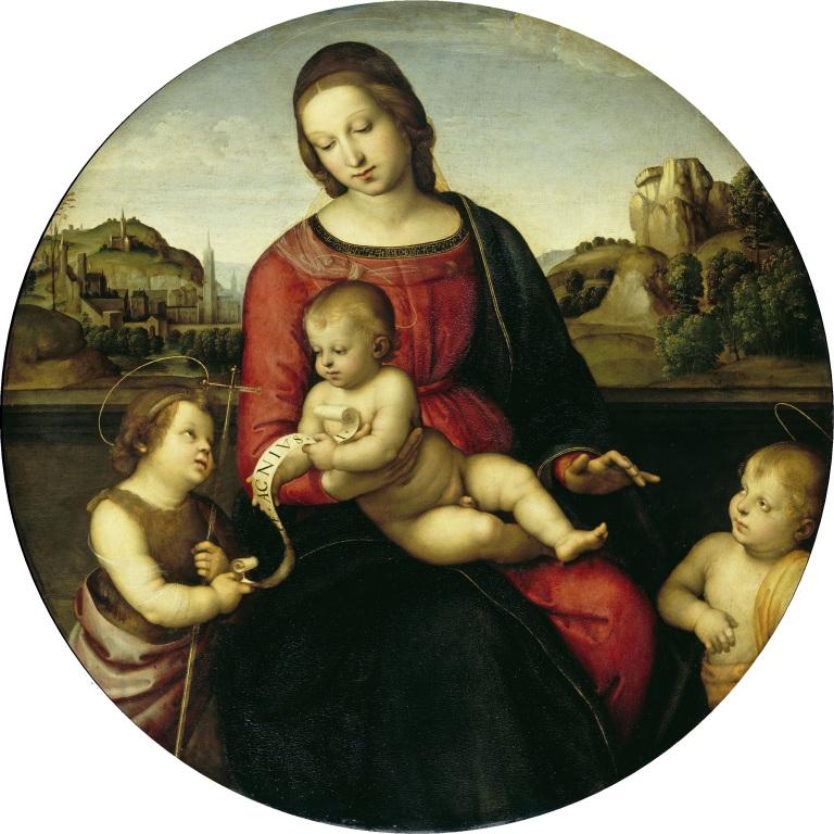 """""""Maria mit dem Kind, Johannes d.T. und einem Hl. Knaben (Madonna Terranuova)"""""""